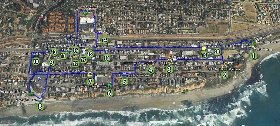 Walking Tour Map DEMA Downtown Encinitas Mainstreet Association
