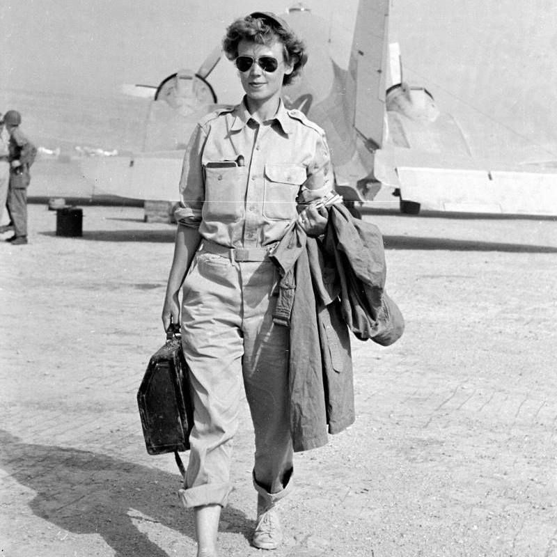 A war reporter, Marguerite Higgins covered WWII, the Korean War, and the Vietnam War. In 1951, she became the first woman to win the Pulitzer Prize for International Reporting. Higgins was born on this day in 1920 and passed away in 1966.