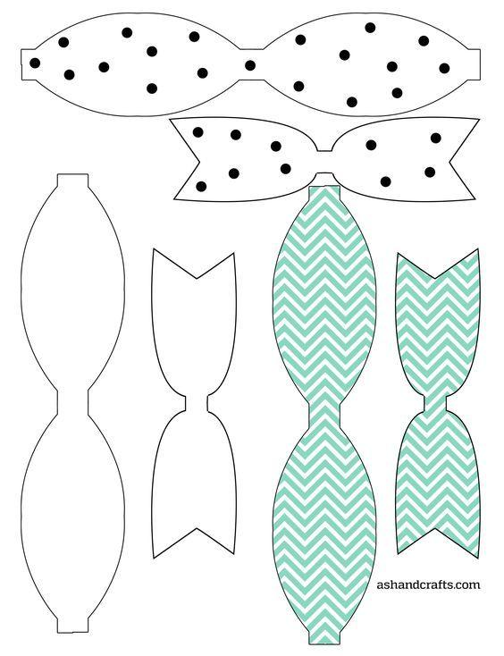 freebie friday printable paper bows bows pinterest bows bow