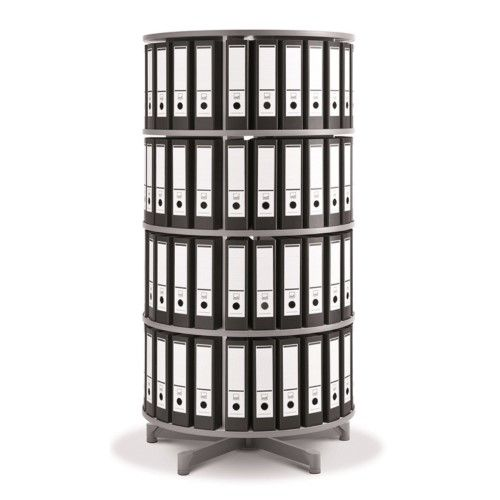 Spin N File Four Tier Rotary Binder Storage Carousel