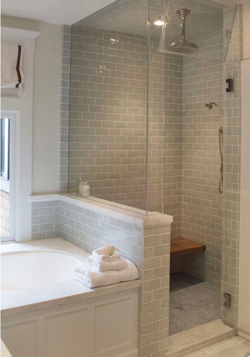 Glass Enclosed Steam Shower Small Master Bathroom Small Bathroom Remodel Bathrooms Remodel