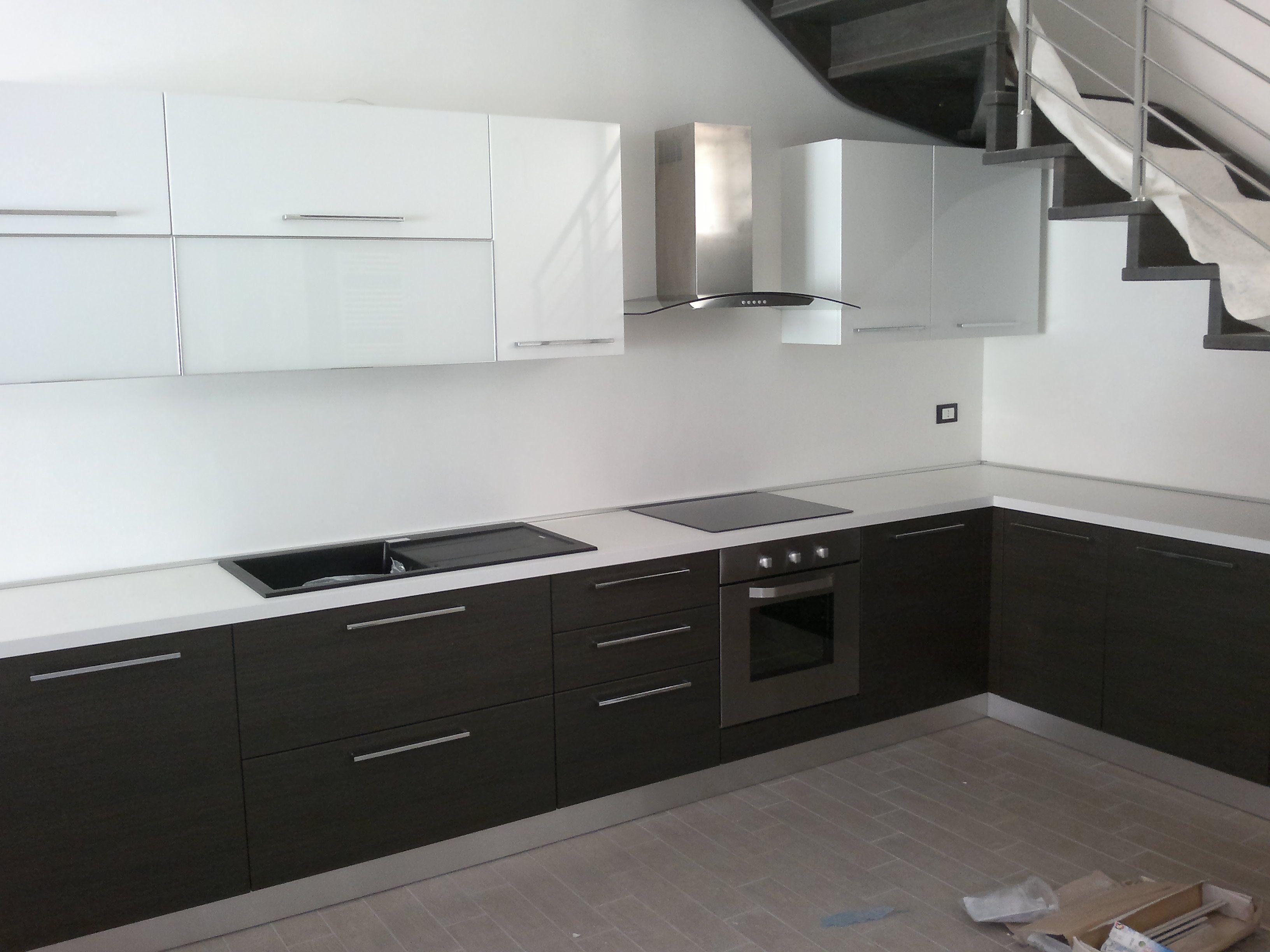 modello Futura - rovere grigio - bianco lucido | cucine realizzate