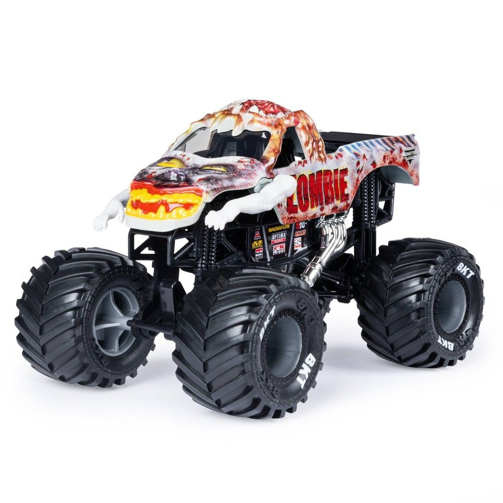 Monster Jam Official Zombie Monster Truck Die Cast Vehicle 1 24 Scale Monster Trucks Monster Jam Diecast Cars