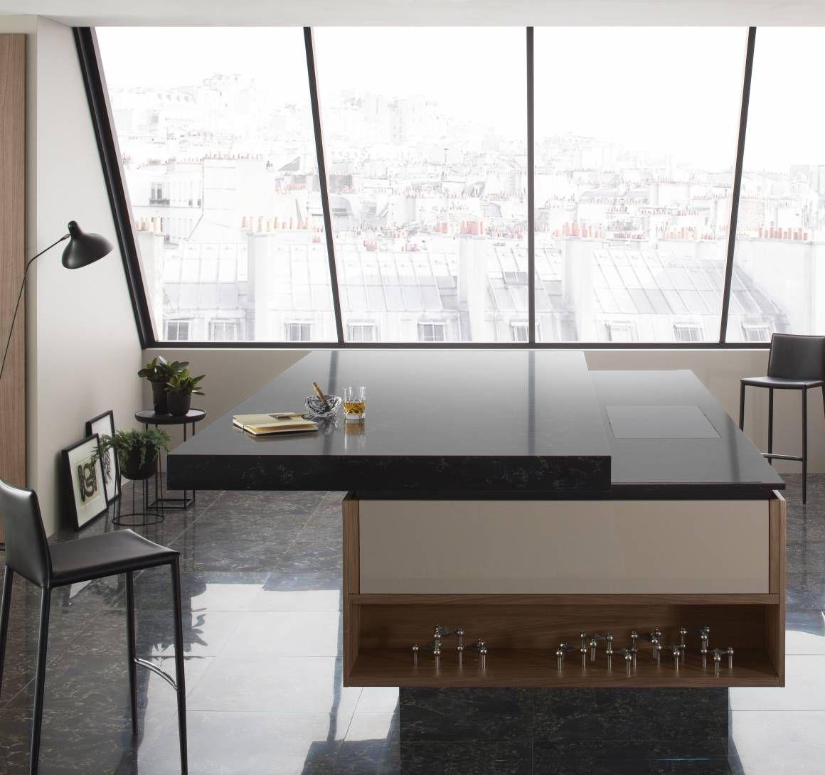 Plan De Travail Coulissant cuisine design club et havane | déco maison, cuisine moderne
