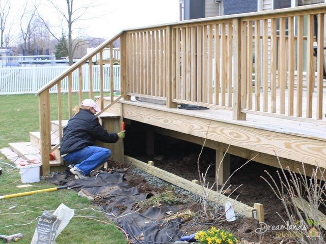 Easy Diy Pressure Treated Wood Deck Skirting Ideas In 4 Days Deck Skirting Deck Designs Backyard Pressure Treated Deck