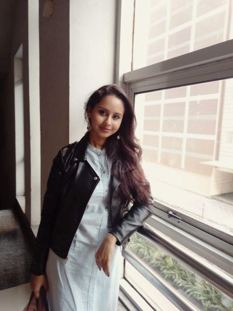 924e80e20b197 Leather jacket with kurti