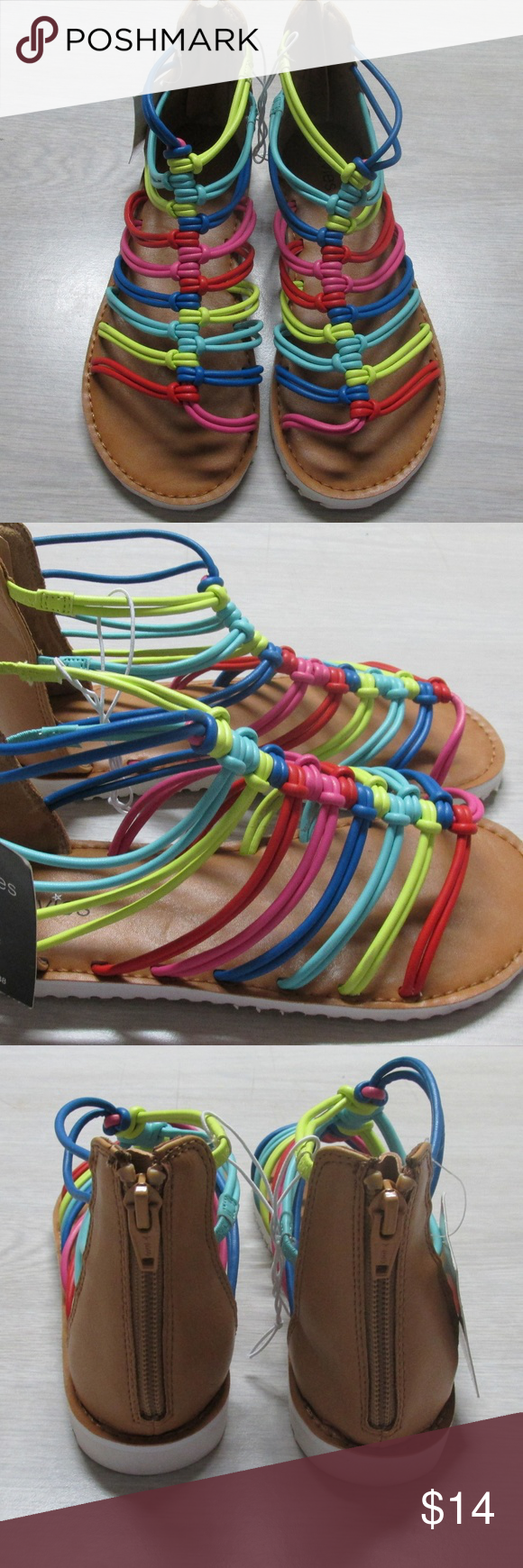 29001d40c1c35 Stevies Girl Called It Rainbow Sandals Your fashion girl will be ready to  wear her warm-weather sandals by Stevies. The versatile style is perfect to  pair ...