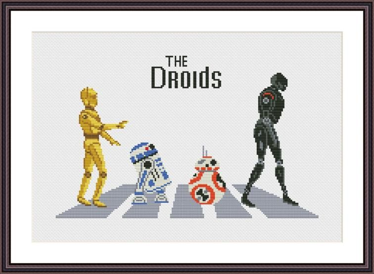 Droids Abbey Road Star Wars Cross Stitch Pattern