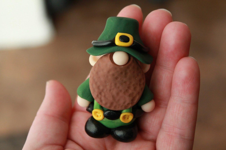 St. Patrick\'s Day Leprechaun - Polymer Clay - St. Patrick\'s Day ...