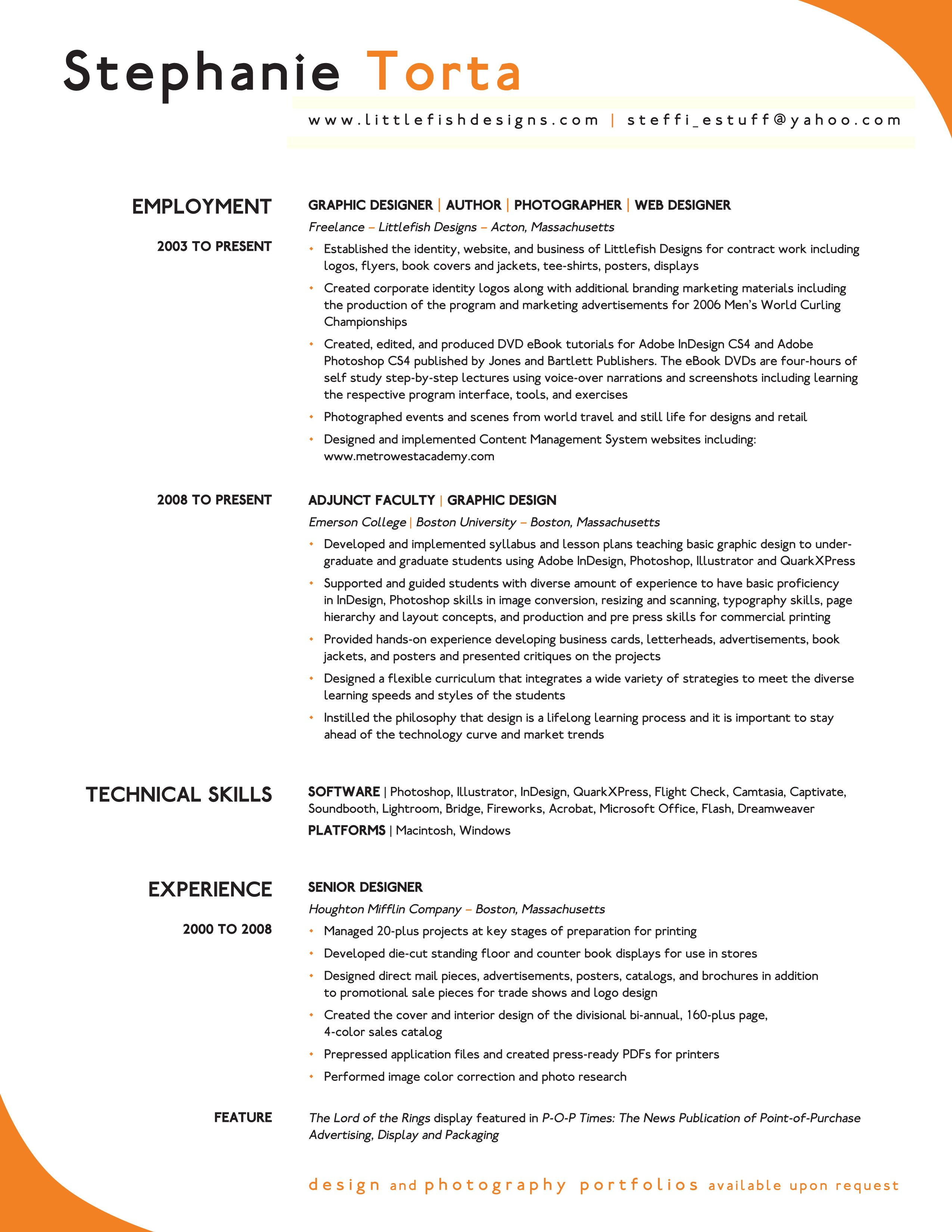 stephanie_torta cv_p1jpg 25503300 - Example Of A Perfect Resume