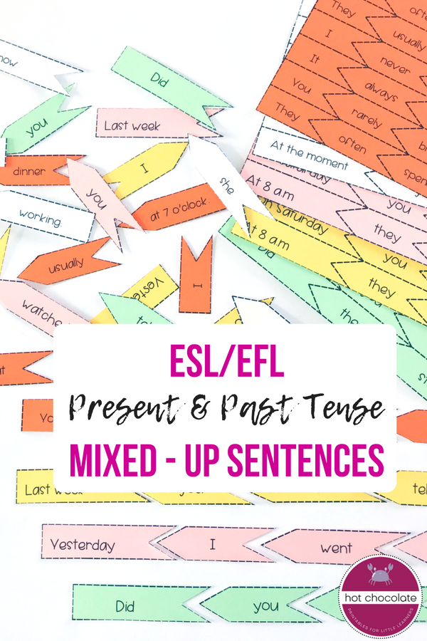 graphic about Sentence Building Games Printable referred to as ESL Sentence Creating Match *Very hot Chocolate TPT - ESL