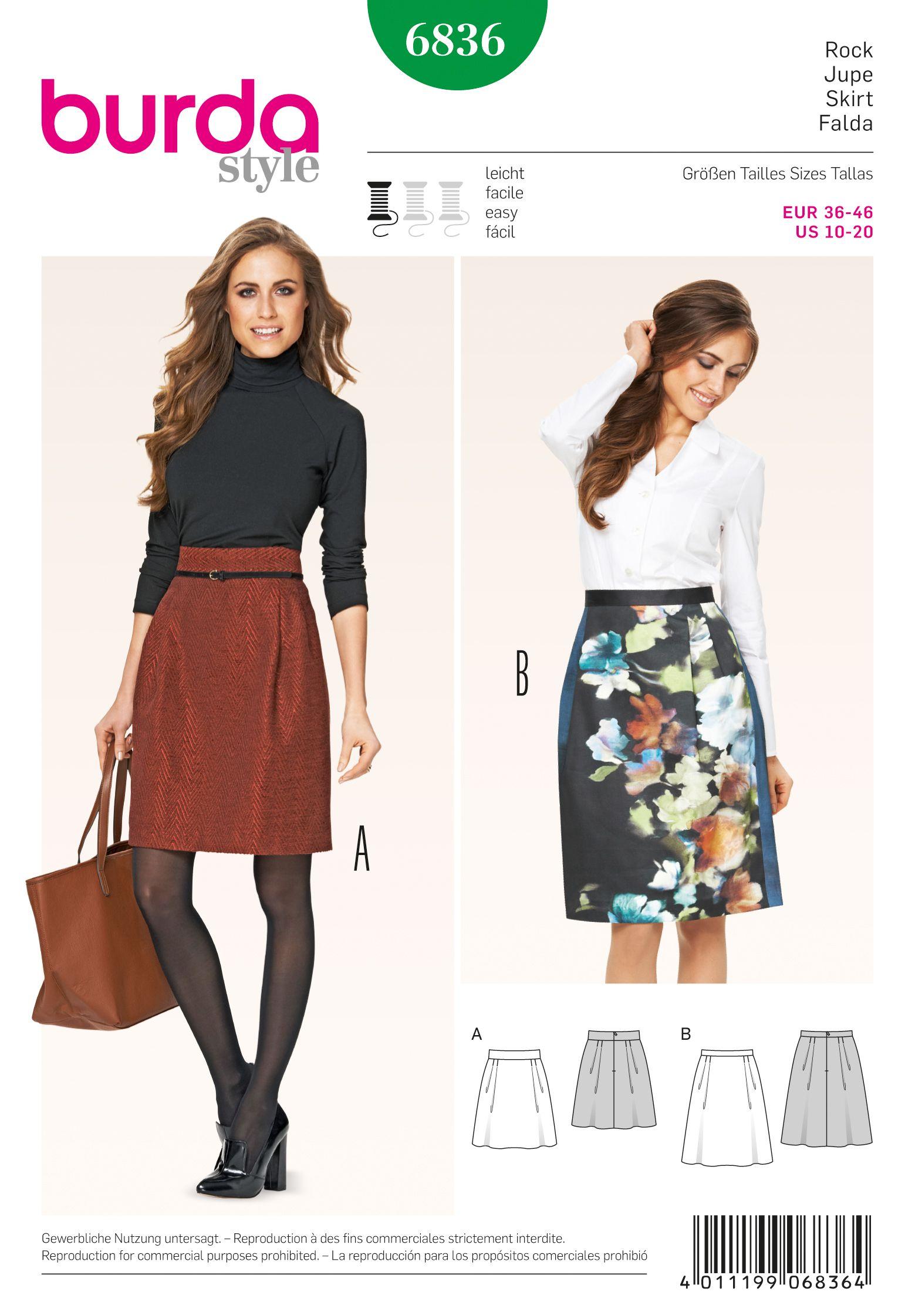 Burda 6836 Skirts | Schnittmuster
