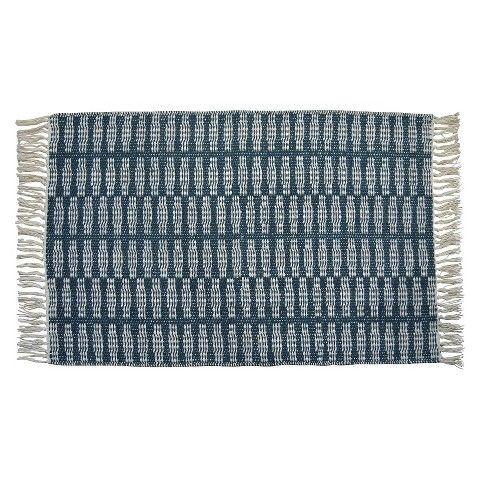 $25 - Kitchen/ bathrooom? Nate Berkus Arrowhead Stripe Accent Rug – Deep Teal (2'x3')