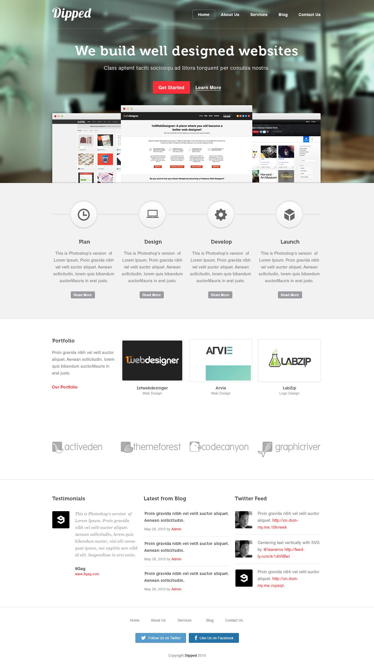 The Most Detailed Psd To Html Tutorial With Images Web Design Well Designed Websites Html Tutorial