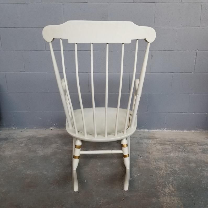 Vintage Nichols And Stone Rocking Chair Rocker Painted