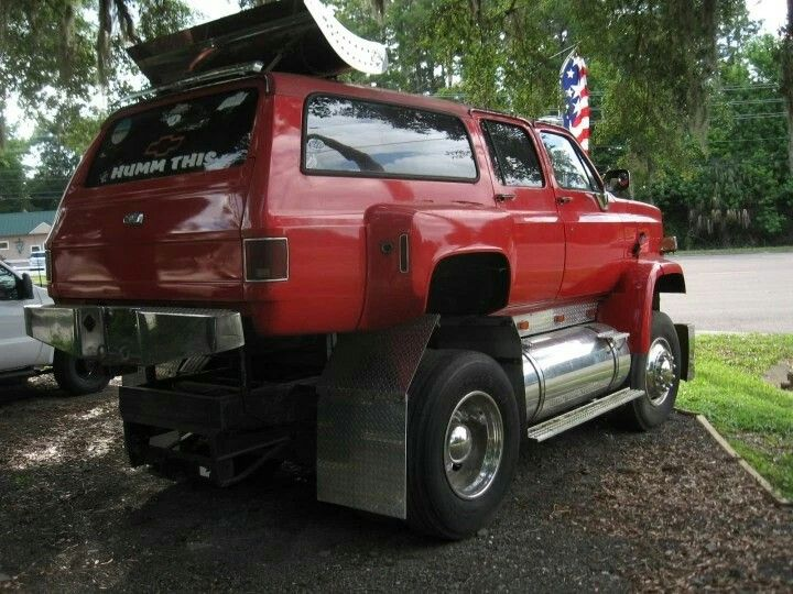 Gmc Kodiak 4x4 Chassis With A Chevy Suburban Body Chevy Suburban Chevy Monster Trucks