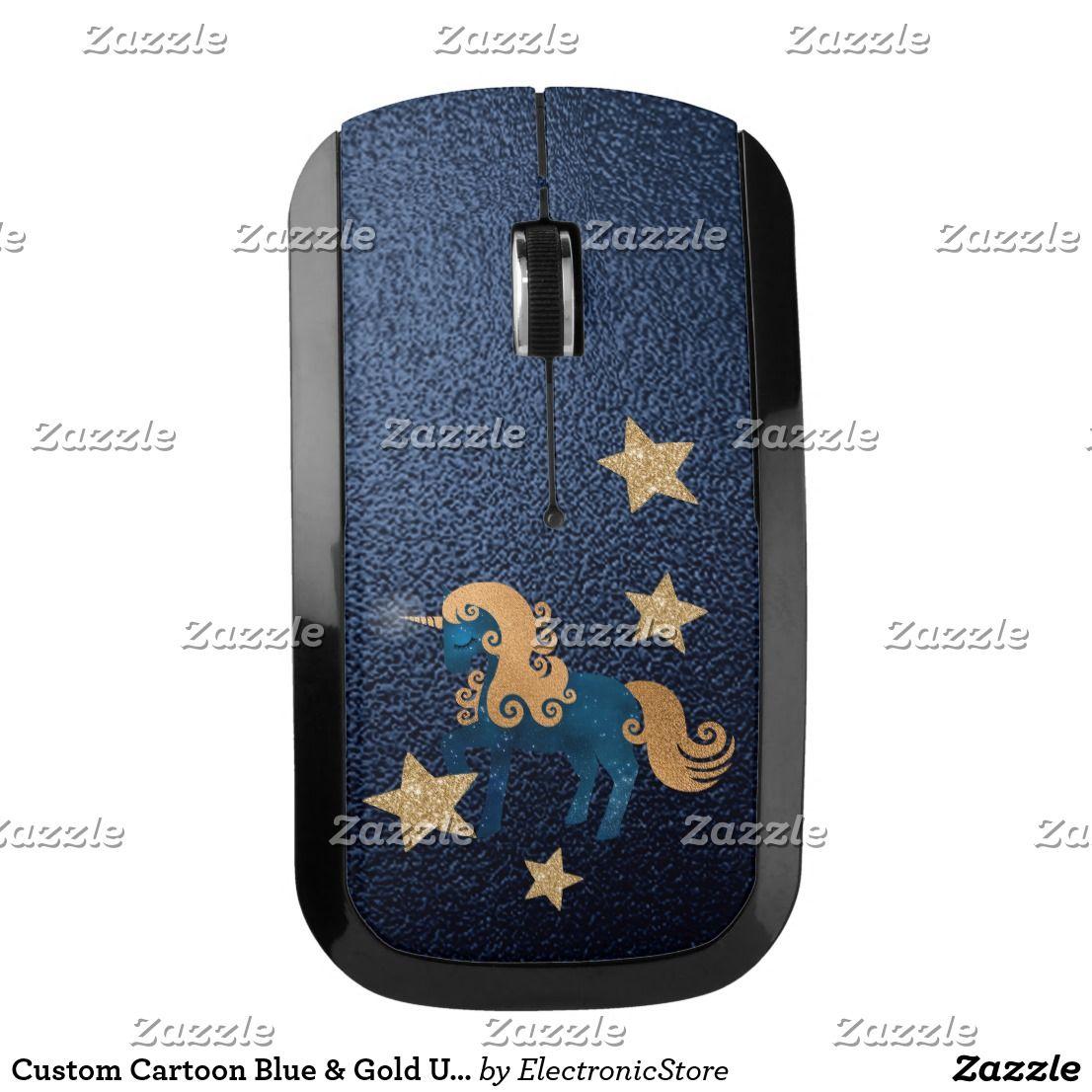 Blue Unicorns Wireless Mouse