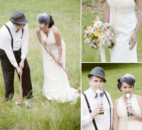 Vintage Wedding Dresses Chicago: Pretty + Playful: A Vintage-Style 1940s Inspired Wedding