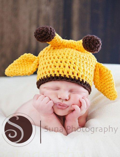80217988d6f Newborn Baby Giraffe Hat
