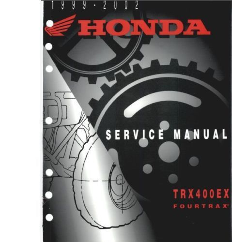 1999 2002 honda 400ex 400 atv service repair manual highly honda rh pinterest com 2004 honda 400ex service manual pdf 2001 Honda 400Ex