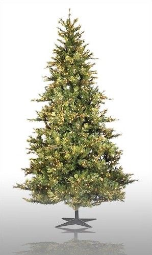 Country Pine 75\u0027 Green Slim Pine Artificial Christmas Tree with 650
