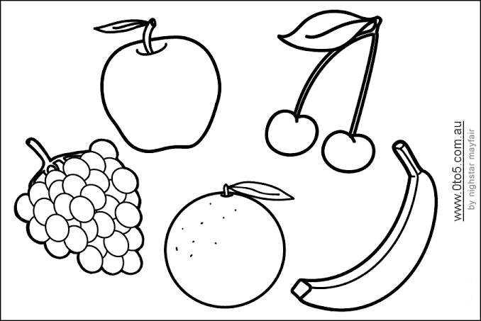 Fruit Stencils Free Printable Google Search Fruit Coloring Pages Coloring Pages For Kids Kids Printable Coloring Pages