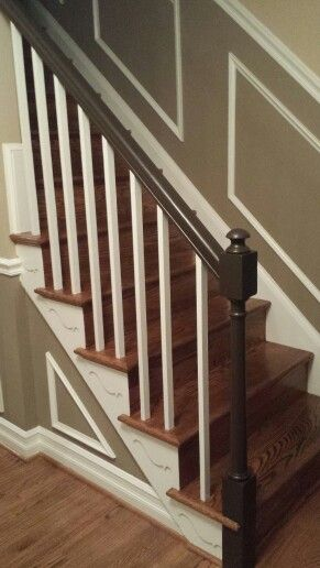 Best Dark Brown Painted Stair Hand Rail Stain The Rail And 400 x 300
