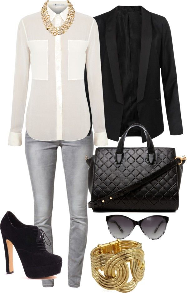 Black White Gold With Images Fashion Corner My Style