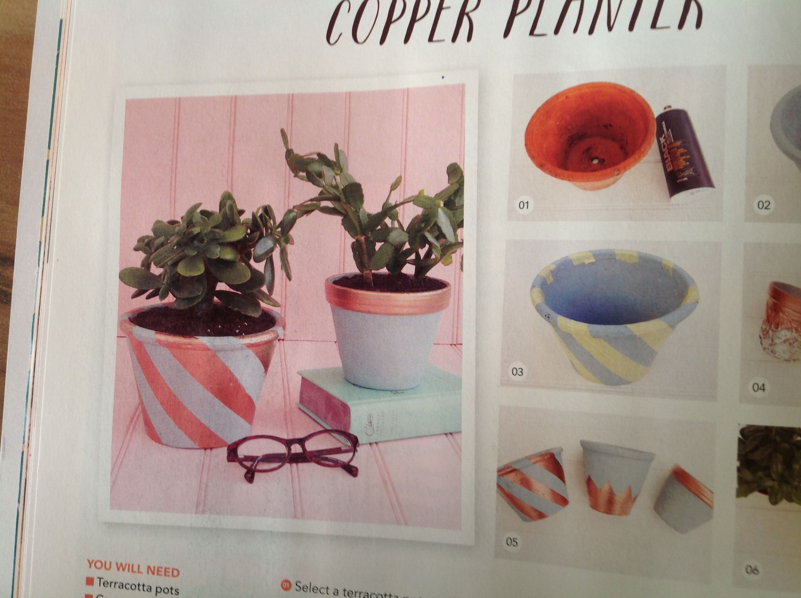 Copper planter | Mollie Makes Issue 47