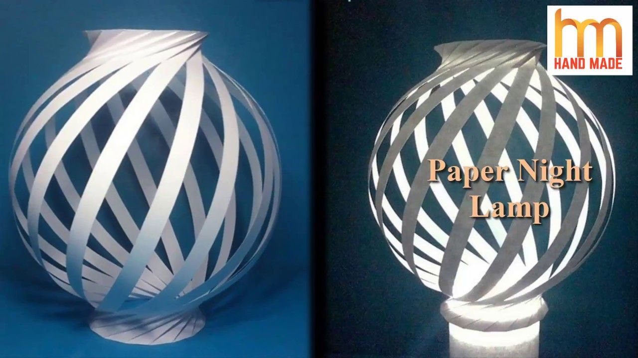 How to make paper night light lamps || Diy paper lampshades || make ... for How To Make Handmade Lamps  70ref