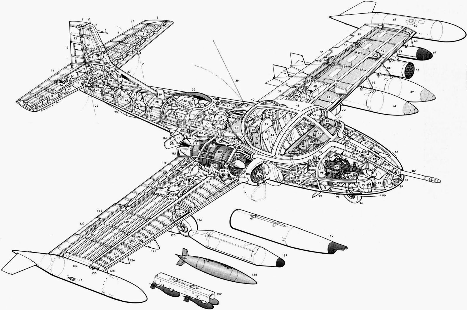 A 37 Dragonfly Cutaway