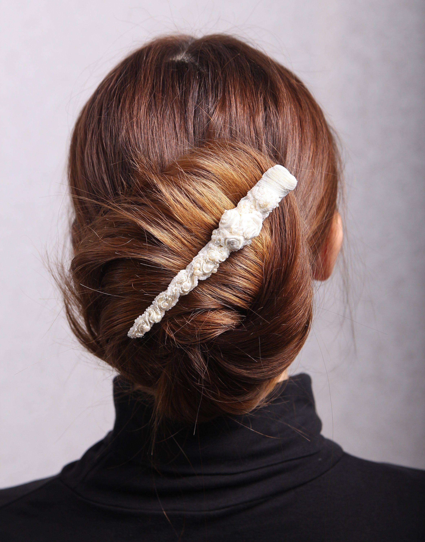 pearl hair clip,bridal headpiece,beaded barrette,bridal