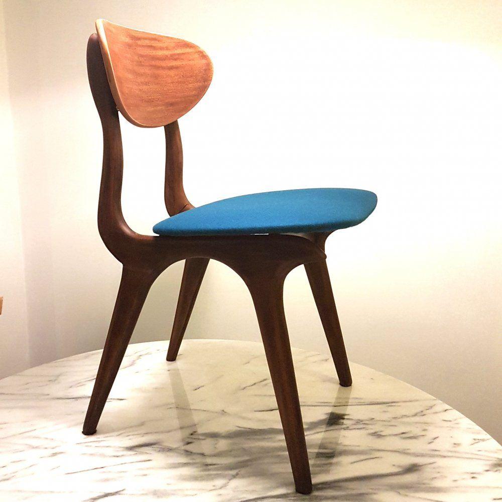 For Sale Teak Dining Chair By Louis Van Teeffelen For Webe Netherlands 1960s Met Afbeeldingen