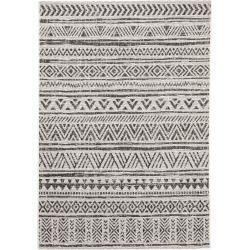 Photo of alfombra de interior y exterior benuta Cleo blanco / negro 240×340 cm – para balcón, terraza y jardín benuta