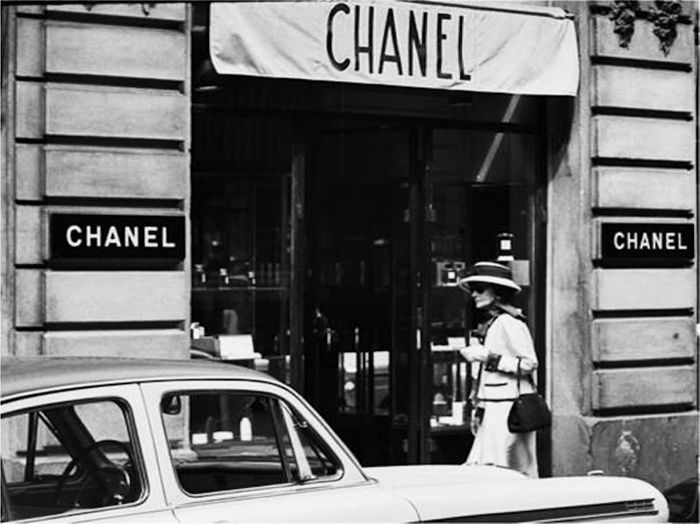 In 1910, Coco Chanel opened her first millinery boutique, selling hats, on Paris's Rue Cambon. Once she realized her benefits from the boutique, she began to also design garments and open more shops through out France. http://sevdamutlu.com/blog/coco-chanel-represents-freedom-and-self-expression/