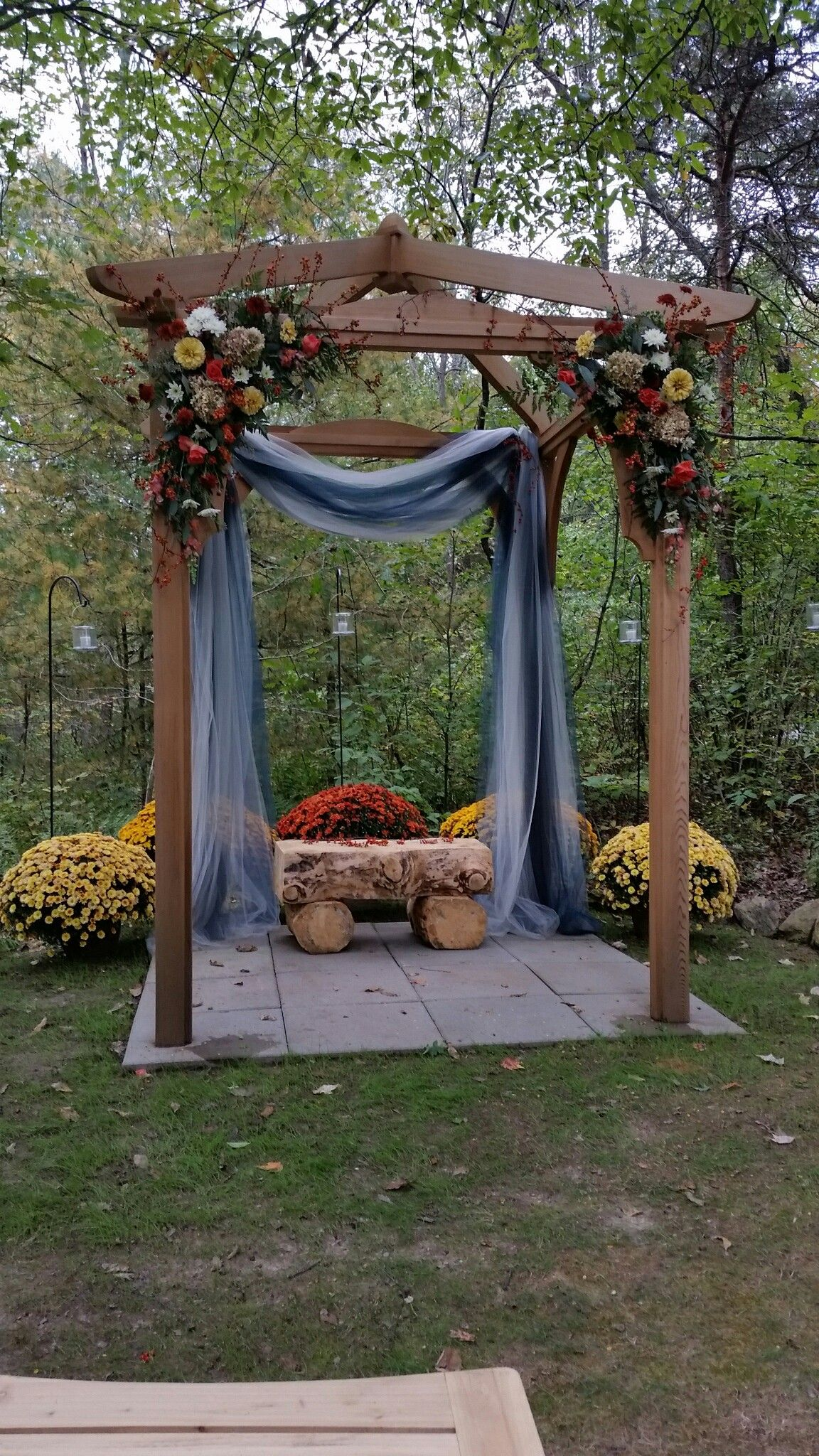 Wedding Pergola Decorated By Ridgemont Farms Dale Rick Wedding