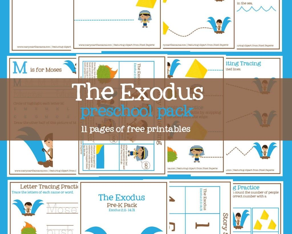 The Exodus From Egypt Prek Pack With Images