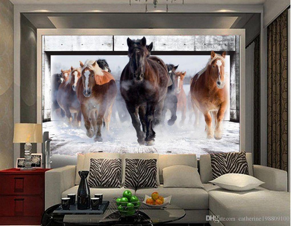8 Ide Wallpaper Dinding 3D Yang Unik Untuk Ruang Tamu Anda