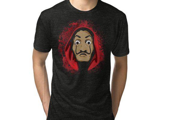 La Casa De Papel Splash Tri Blend T Shirt By Metaminas Mens