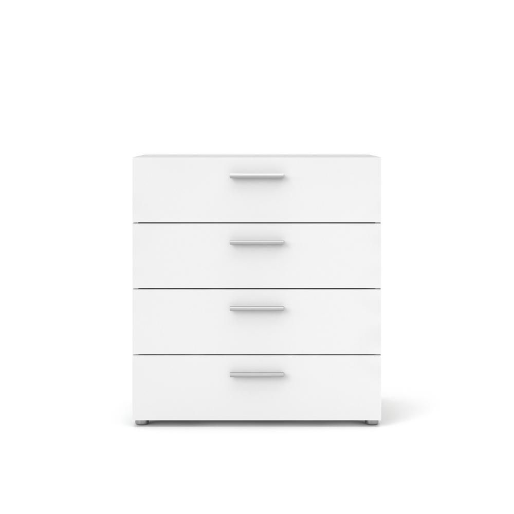 Tvilum Austin 4 Drawer White Chest Of Drawers 705054949 The Home Depot In 2020 Tvilum White Chest Of Drawers White Chests [ 1000 x 1000 Pixel ]