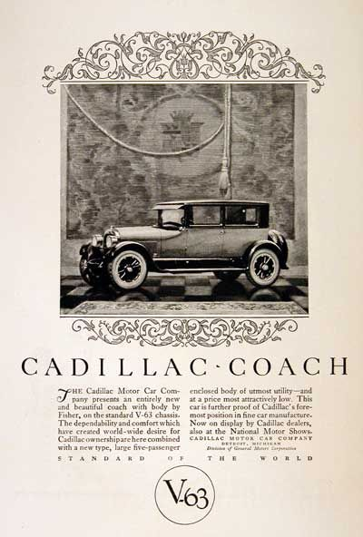 Cadillac ad from 1925