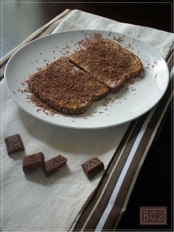 Para una Rica Merienda: Tostadas de Chocolate vía #BienCocina2