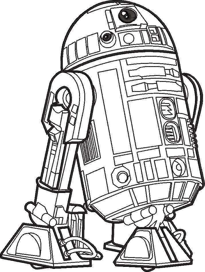 Star War R2 D2 Embroidery Design In 2020 Star Wars Coloring Sheet Star Wars Coloring Book Star Wars Colors
