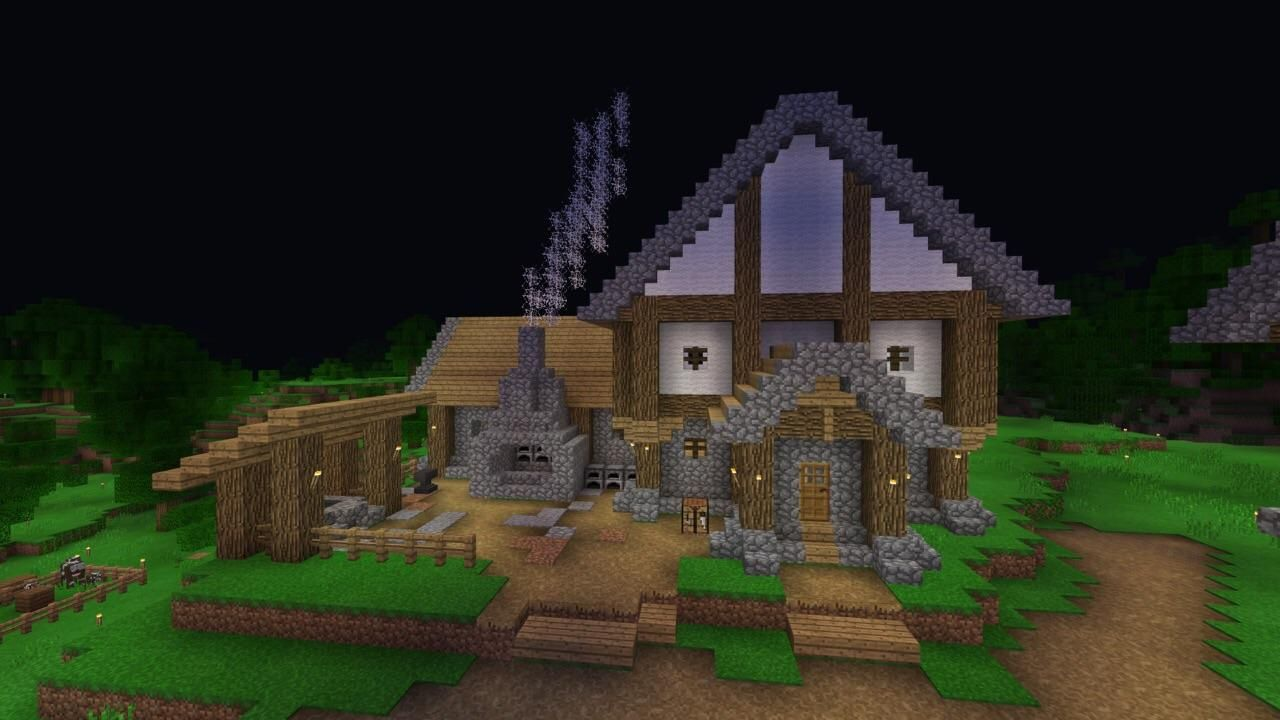 I Found A Toolsmith So I Began Building A Blacksmith For Him I Like The Way It S Looking Thus Far Min Minecraft Designs Minecraft Medieval Minecraft Forge