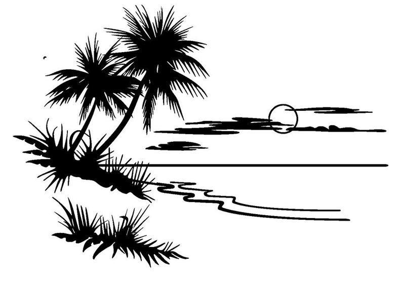 Palm Tree Palm Tree Sunset Palm Trees Art