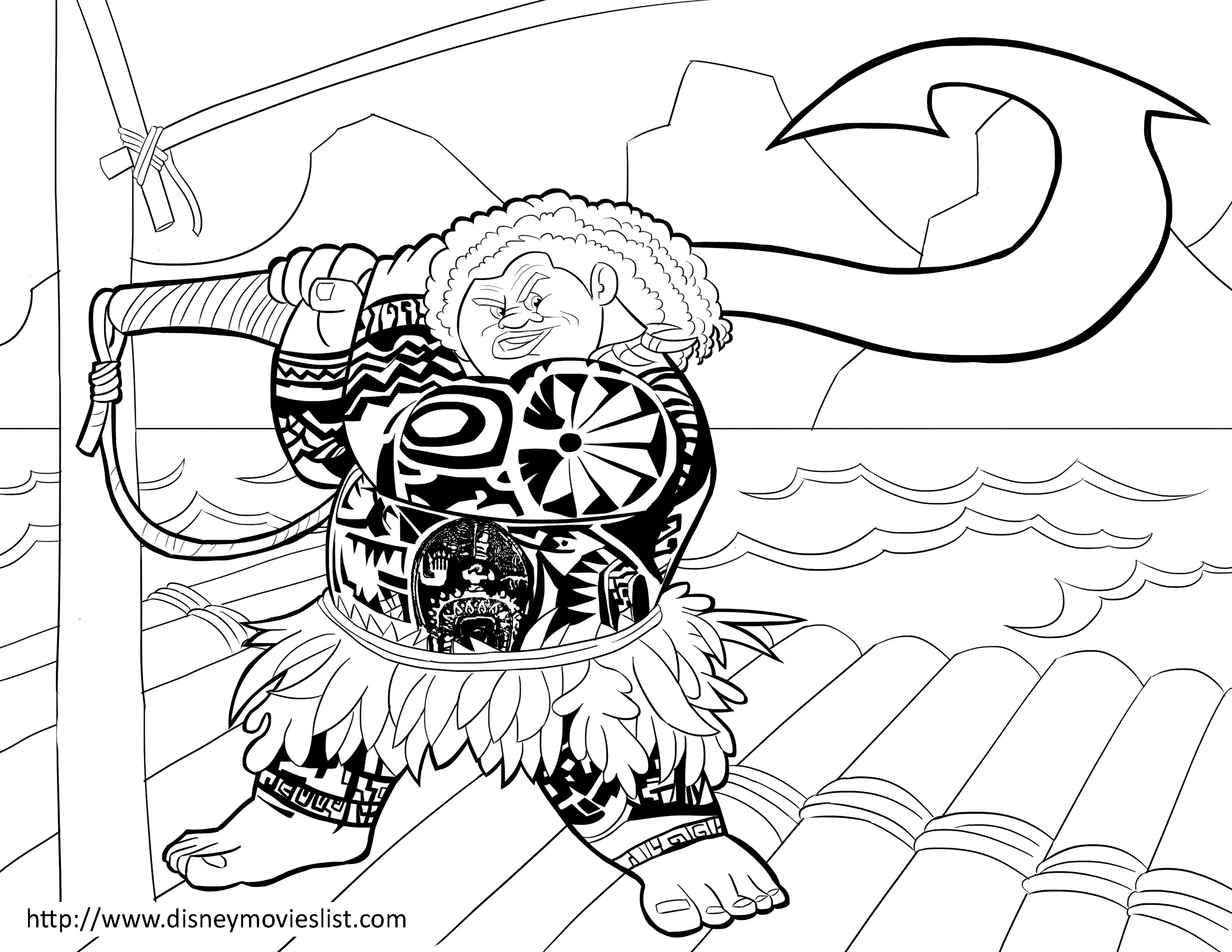 Disney's Moana Coloring Pages Sheet, Free Disney Printable