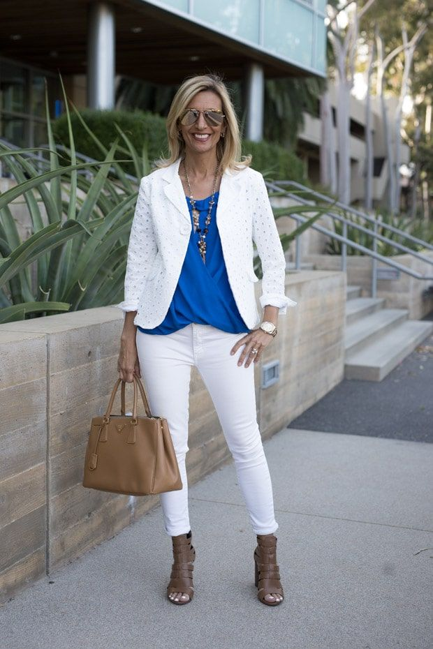 db4af0796a22 New on the blog today our White Eyelet Embroidered jacket, Royal Blue Off  The Shoulder Top and Multi Bead Necklace - All part of our 24-HR FLASH SALE!