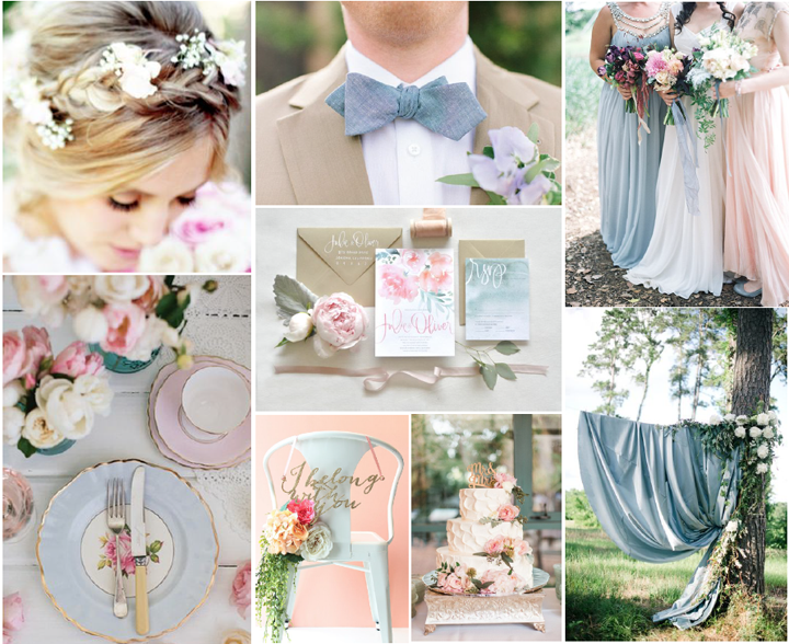 A Dusty Blue Pink And Gold Wedding Charmed Events Group