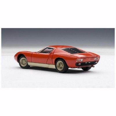 Lamborghini Miura Sv Red 1 43 Diecast Model Car By Autoart