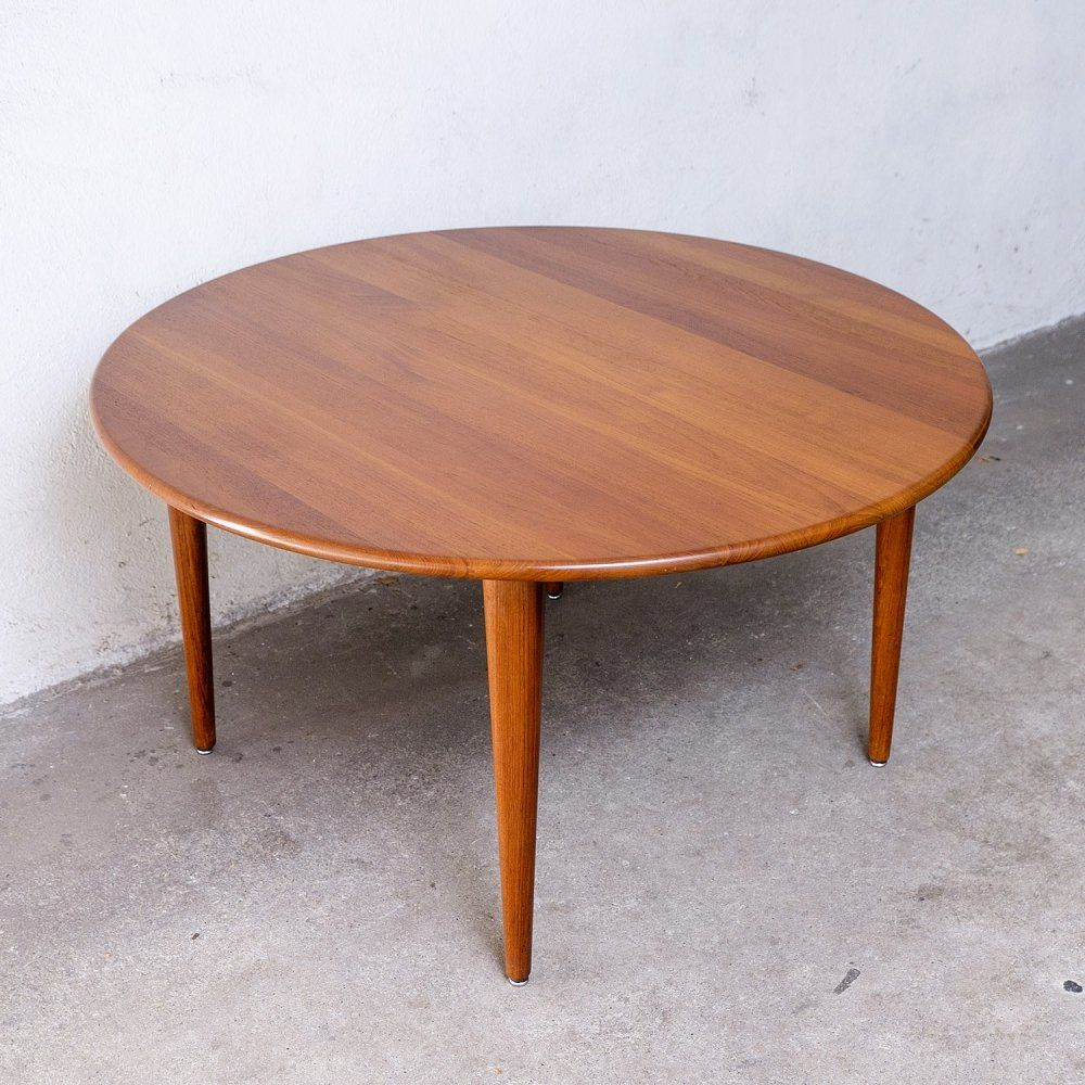 Solid Teak Coffee Table 1960s 110714 Teak Coffee Table